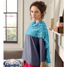 Modell 232/5, Tuch aus Rialto Lace von Debbie Bliss