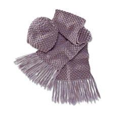 Modell 137/4, Damenmütze und Schal aus Winter-Jaspé von Junghans-Wolle