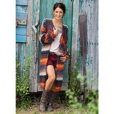 Modell 199/5, Mantel aus Silk Garden von NORO
