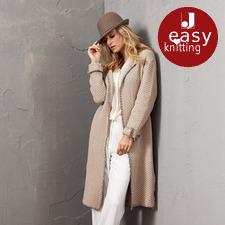 Modell 072/5, Mantel aus Merino-Cotton von Junghans-Wolle