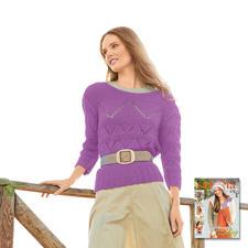 Modell 418/5, Pullover aus Roma von Junghans-Wolle