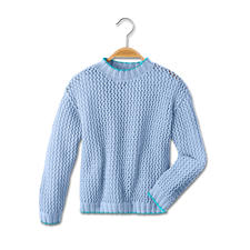 Modell 465/5, Pullover aus Cotonia II von Junghans-Wolle