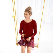 Anleitung 706/5, Pullover aus Linova von ggh, Modell aus Rebecca Heft 58