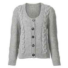 Modell 051/5, Jacke aus Landwolle von Junghans-Wolle
