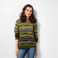 Modell 377/6, Pullover aus Crazy Zauberball von Schoppel-Wolle
