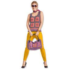 Modell 008/6, Top und Modell 009/6, Tasche aus Roma von Junghans-Wolle