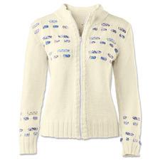 Modell 019/6, Jacke aus Cotonara von Junghans-Wolle