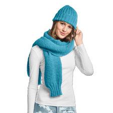 Modell 078/6, Schal und Mütze aus Achat von Junghans-Wolle