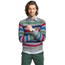 Modell 105/6, Herrenpullover, 2-fädig aus Merino-Supersoft von Junghans-Wolle