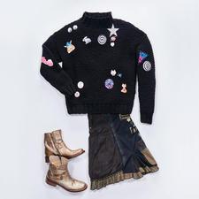 Anleitung 152/7, Trend-Pullover aus Merino Dick von Junghans-Wolle