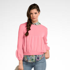 Modell 115/6, Pullover aus Fluffina von Junghans-Wolle