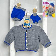 Modell 134/6, Jacke, Mütze und Socken aus Merino-Extrafein von Junghans-Wolle