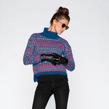 Modell 213/6, Pullover aus Winter-Jaspé von Junghans-Wolle