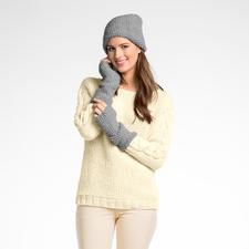 Modell 243/6, Damenmütze und Pulswärmer, 2-fädig aus Peru von Junghans-Wolle