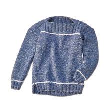 Modell 287/6, Kinderpullover aus Denim von Junghans-Wolle