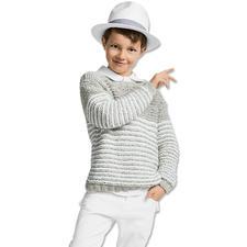 Modell 288/6, Kinderpullover aus Denim von Junghans-Wolle