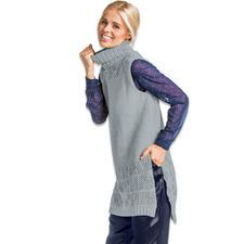 Modell 334/6, Damen-Longpullunder aus Fluffina von Junghans-Wolle