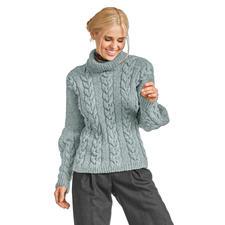 Modell 345/6, Damenpullover aus Flip von Junghans-Wolle