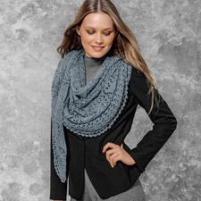 Modell 407/6, Tuch aus Silky Lace von Katia