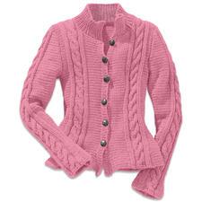 Modell 445/6, Damenjacke aus Landwolle von Junghans-Wolle