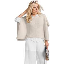 Modell 460/6, Damen-Cape aus Bandana Wool von Junghans-Wolle