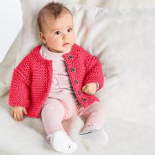 Anleitung 472/6, Baby-Jacke, 2-fädig aus Novata von Junghans-Wolle