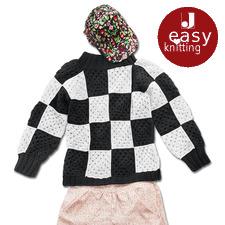 Modell 009/7, Damenpullover aus Roma von Junghans-Wolle