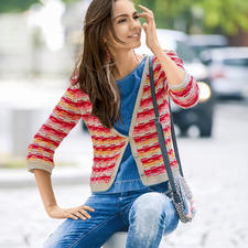 Modell 048/7, Jacke aus Bio Cotton und Bio Cotton Color von Austermann®