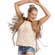 Modell 049/7, Pullover aus Denim von Junghans-Wolle
