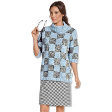 Modell 077/7, Pullover aus Denim, Varese und Aerea von Junghans-Wolle