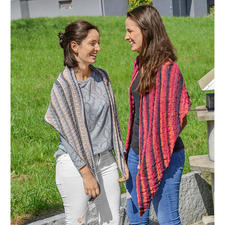 Anleitung 082/7, Dreiecktuch aus Bandy Color von Woolly Hugs