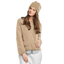 Anleitung 165/7, Damen Pullover mit Mütze aus Nordland von Junghans-Wolle