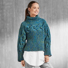 Anleitung 289/7, Damen Pullover, 3-fädig aus Katina von Junghans-Wolle