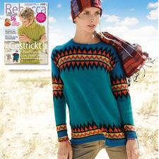 Anleitung 323/7, Pullover aus Baby Alpaka von ggh, Modell aus Rebecca Heft 67