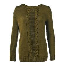 Anleitung 338/7, Damenpullover aus Merino-Cablé von Junghans-Wolle