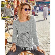 Anleitung 031/8, Damen Pullover aus Denim von Junghans-Wolle
