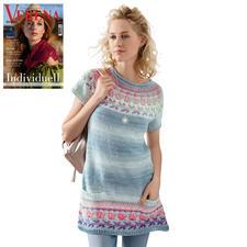 Anleitung 046/8, Damen Kleid aus Pinta von Junghans-Wolle