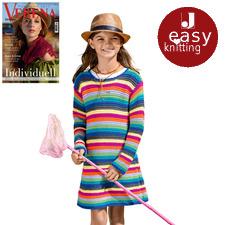 Anleitung 052/8, Kinder Kleid aus Cotonara von Junghans-Wolle