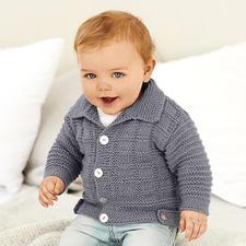 Anleitung 075/8 B, Baby Jacke mit Kragen aus Baby Classic dk von Rico Design