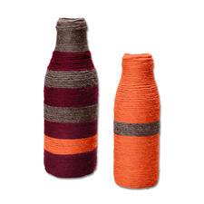 Anleitung 150/6, Umwickelte Flaschen aus Clou von Junghans-Wolle