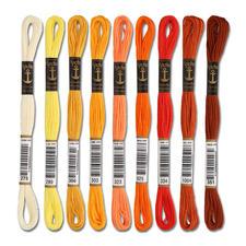 Anchor-Sticktwist Gelb/Orange/Braun Sie haben eine riesige Farbauswahl. Coats/Mez ist die führende Qualitätsmarke für Stickgarne seit mehr als 100 Jahren.