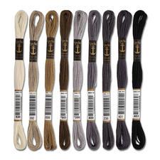 Anchor-Sticktwist Grau/Braun/Schwarz/Weiß Sie haben eine riesige Farbauswahl. Sie werden aus hochwertiger, reiner Baumwolle nach strengen Qualitätskriterien gefertigt.