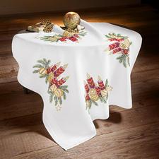 Tischdecke, Kerzengesteck