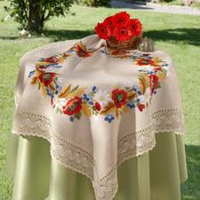 Tischdecke, Kornblumen