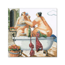 Kreuzstichbild - Bathing Beauties