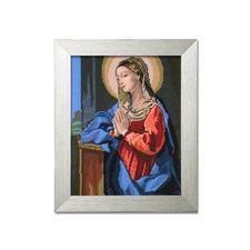 "Gobelinbild ""Madonna"" mit Kunststoff-Rahmen Farbig vorgemaltes Gobelin mit Kunststoffrahmen."
