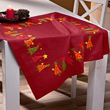 """Tischdecke """"Moderne Tannenbäume"""", Rot Tischdecke """"Moderne Tannenbäume""""."""