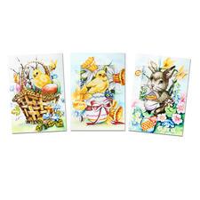"""Grußkarten mit Umschlag """"Ostern"""", 3er-Setpackung Fröhliche Ostern..."""
