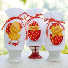 """3 Eierhütchen """"Lustige Küken"""" im Set"""