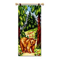 """Kreuzstich-Wandbehang """"Bär"""" oder """"Elch"""""""
